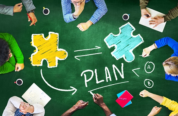 Plan Strategy Management Support Team Teamwork Connection Concept
