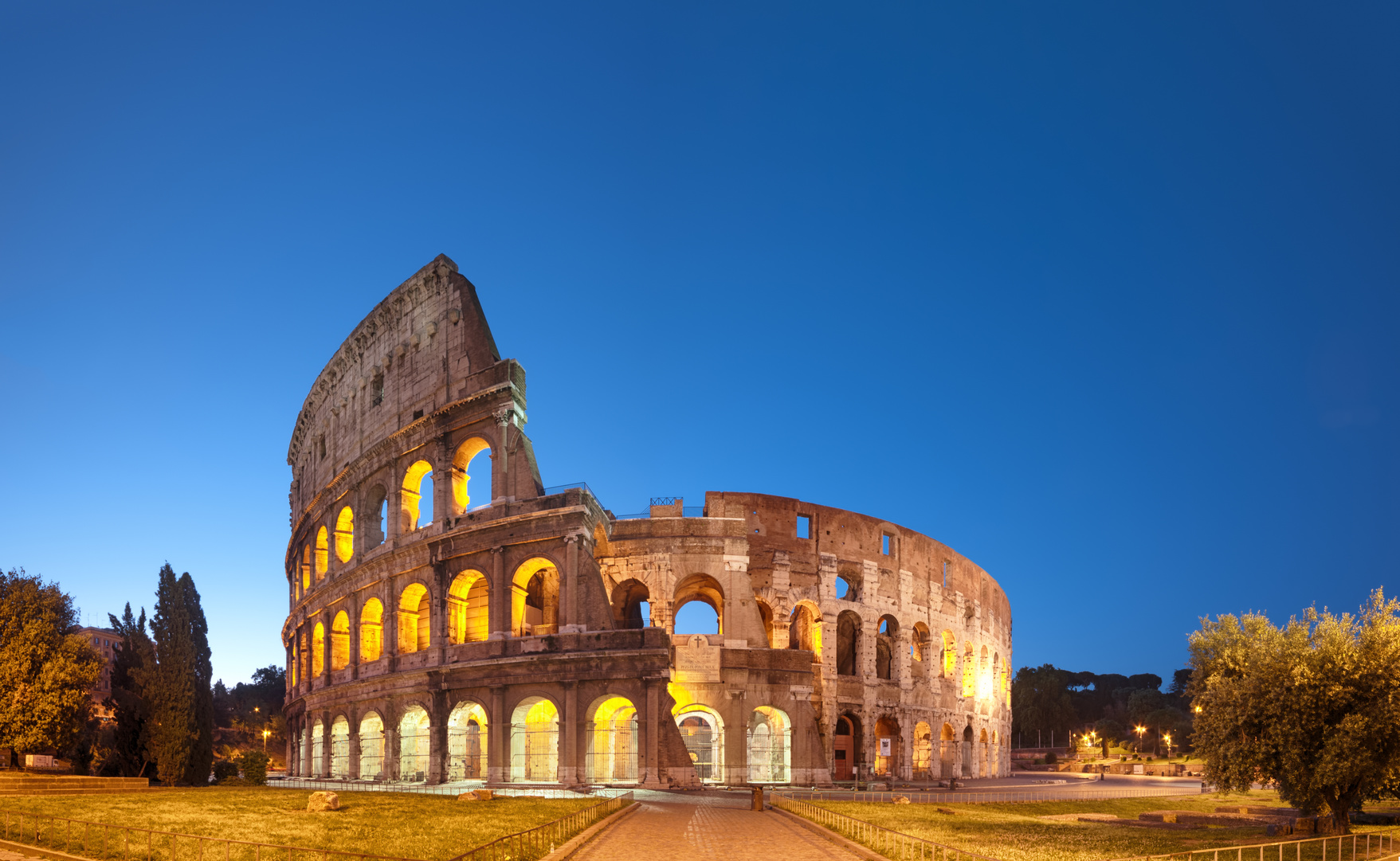 Colosseum at night .Rome - Italy
