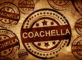 coachella, vintage stamp on paper background