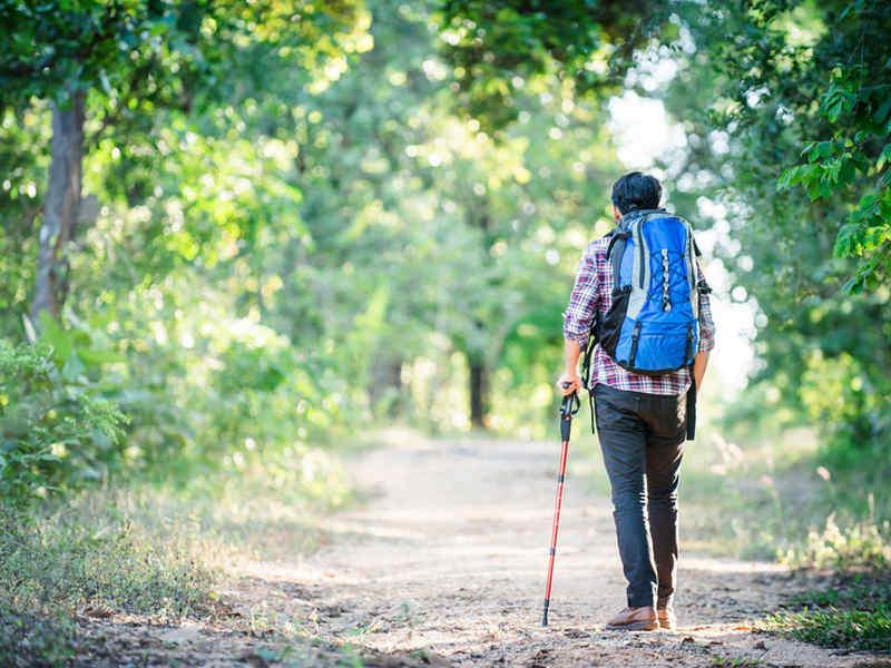 compiere un viaggio a piedi